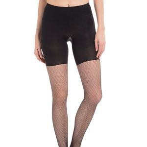 Spanx Diamondnet Footed Tights NWT